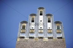 Hochzeitsturm Wedding Tower on Mathildenhoehe Darmstadt Hesse Germany Europe