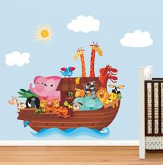 Noah's Ark wall art in vinyl decal for home wall decoration.