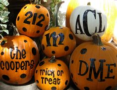 Halloween Pumpkin Monograms. $10.00, via Etsy.