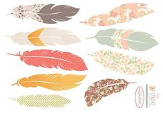 Print feathers