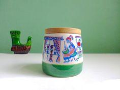 seltene Vintage Schramberg Dose Holzdeckel  von ILoveSparrows auf DaWanda.com