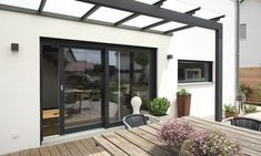 How Does Pergola Work Modern Front Door, Covered Pergola, Patio Doors, Lawn And Garden, Landscape Architecture, New Homes, Backyard, Outdoor Structures, Exterior
