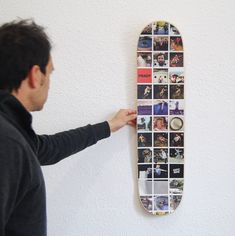 "Your own ""collage with Instagram photos"" on a custom skateboard for someone special.  #skateboard #skate #instagram  #inspirational #lyfestyle #skater #skateboarder #gift"