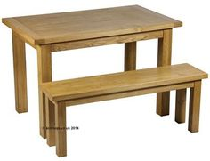 Solid oak dining table - Bespoke solid oak furniture makers.