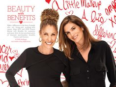 Cindy Crawford shared beauty secrets to help cancer survivors.