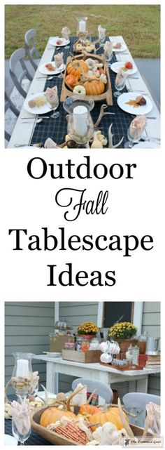 Outdoor Fall Tablescape - The Crowned Goat