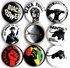Black Panther Party button set of 8 pinbacks 1 by Panicbuttons101, $3.99