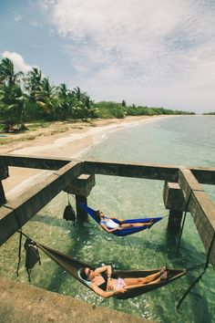 I would not mind lounging in a hammock over the ocean at all. This looks like absolute paradise!
