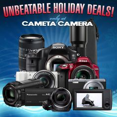 Check out these value-packed bundles featuring the Nikon D3300, Sony A5000, Panasonic ZS40, Sony A77 II, plus two great HD camcorders, Tamron telephoto zoom lenses (for a variety of mounts), and more! All with Free Shipping, of course!