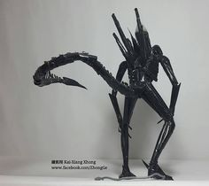 Drinking straws Alien by 鍾凱翔 Kai-Xiang Xhong