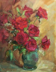 """Simply Reds"" original fine art by Barbara Schilling"