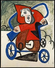 Pablo Picasso, Enfant dans sa voiture, February © 2012 Pablo Picasso/Artists Rights Society (ARS), New York. Photo by Maurice Aeschimann. Pablo Picasso, Picasso Blue, Picasso Cubism, Picasso Portraits, Picasso Paintings, Abstract Paintings, Oil Paintings, Painting Art, Landscape Paintings