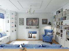 Фотография: Гостиная в стиле Кантри, Квартира, Дома и квартиры, IKEA, Проект недели, двушка в москве – фото на InMyRoom.ru