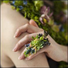 botanical couture photoshoot , Francoise Weeks - photo: Ted Mishima