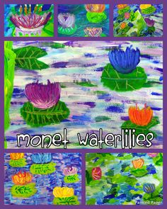 "Monet's ""Waterlilies"". Step-by-step instructions. Example five   might be able to finish my first quilt piece with this"