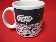 Gary Larson Farside Cow's Shower Stampede Collectible Coffee Mug Cup