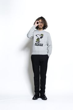 2016AW SEVESKIG SNOOPY HAND EMBROIDERY