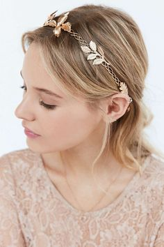 Metal Garland Tie-Back Headband - Urban Outfitters