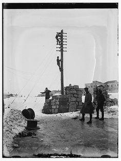 Snow in Jerusalem, 1921