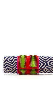 tribal envelope clutch bag