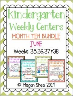 Thank you for looking!This packet includes weeks 35,36,37&38. The themes are Ice Cream, Beach, Fish and Summer. Each set of centers contain 5 centers with activities.This is the last bundle, check out the previous bundles in my store!I love weekly centers and I highly suggest trying them in your classroom!
