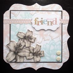 A card made with Craftwork Cards Tea Dance Collection and Elegance card blank.