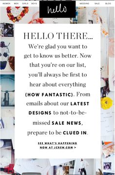 j crew - welcome email