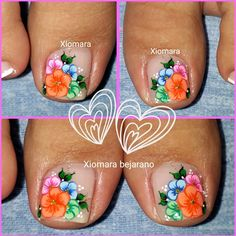 Pretty Toe Nails, Pretty Toes, New Nail Art Design, Summer Toe Nails, Aycrlic Nails, Butterfly Nail, Cute Toes, Toe Nail Designs, Toe Nail Art