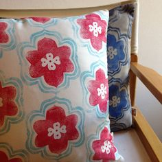 New cushion covers. I love these color combinations.