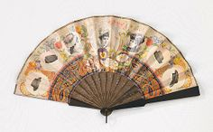 Fan 1880, American, Made of wood and paper