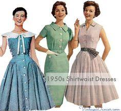 1950s Shirtwaist Dresses