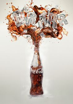 Some Coca-Cola Splashes I did for Advertising.