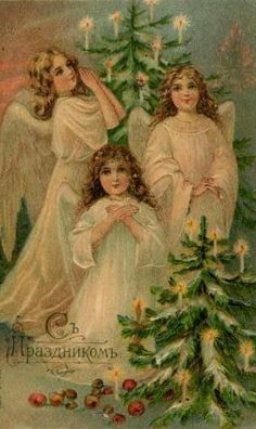 This is a collection of vintage Christmas images and art from my vintage paper collection. These are delightful and old fashioned images taken mostly from an antique postcard collection left to me by my great uncle. I've collected a few on my own. Images Vintage, Vintage Christmas Images, Christmas Past, Victorian Christmas, Vintage Holiday, Christmas Pictures, Christmas Angels, Vintage Pictures, Xmas