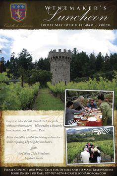 Winemaker's Luncheon Friday, May 10th!