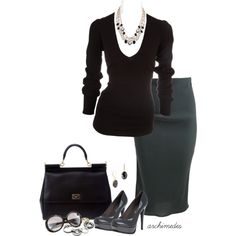 "Love it - ""Donna Karan for the Office"" by archimedes16 on Polyvore"