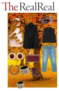 Fall Style With The RealReal: Contest Entry by shaniamelville-1 on Polyvore featuring Monki, Maje, Acne Studios, Chloé, Valentino, House of Harlow 1960, Miriam Salat, River Island and TheBalm