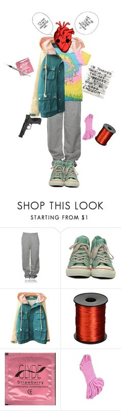 """haha just stay with me"" by bulletp on Polyvore featuring UNIF, Converse and Smith & Wesson"