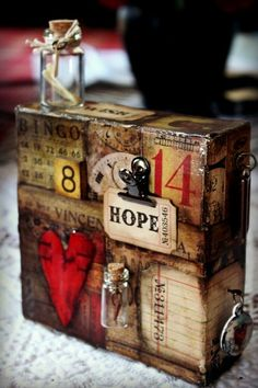 Wow - love this  Decoupage! I used to do this with my momma! I'm going to do it again. :)