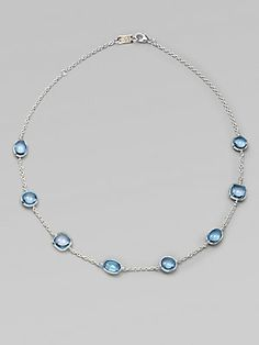 Ippolita Blue Topaz and Sterling Silver Necklace