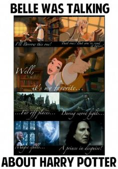 I love Harry potter and Disney mashups