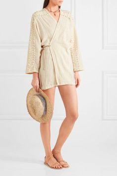 4dceaeb599b12 Caravana - Kan frayed basketweave cotton wrap top
