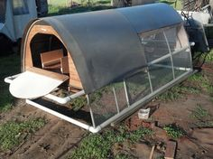 This is an overview of a lightweight chicken tractor I made with PVC, sheet metal, hardware fabric, and some scrap wood. It has an automatic feeder, automati...