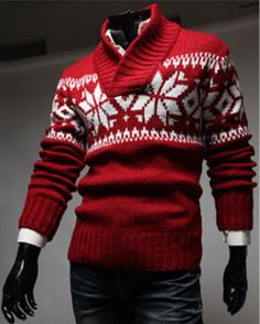 53fd0e508099 Mens Christmas Snow Patterned Sweater