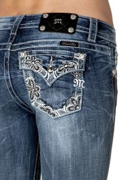 Miss Me Jeans for Women - Boot Cut Ladies Wooven Pants (Style Cowgirl Jeans, Cowgirl Outfits, Cowgirl Style, Cowgirl Clothing, Cute Country Girl, Country Girls Outfits, Love Jeans, Miss Me Jeans, Casual Wear Women