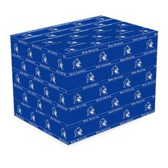 "Duke Blue Devils Duke Blue Gift Wrap Paper by Football Fanatics. $4.95. This team logo gift wrap paper is perfect for birthday gifts for the avid Blue Devils fan in your life. It's also a wonderful way to present the recent grad with a token of congratulations!(2) 20""x30"" Heavy coated wrapping sheetsTeam logo and colorsOfficially licensed NCAA product"