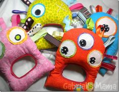 monsters aren't really the typical baby gift theme, but I think these are adorable!!!