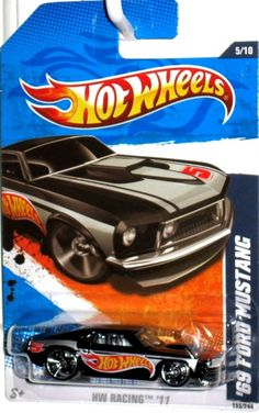 1969 Ford Mustang 2010 Hot Wheels Racing #5/10 Black Version (MINT CONDITION) #HotWheels #Ford