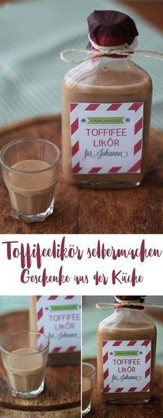 Toffifee Likör selbermachen - DIY Geschenkideen aus der Küche - Likör selbermachen - Weihnachtsgeschenke