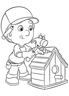 Handy Manny Coloring Pages   Coloring   Pinterest   Birthdays