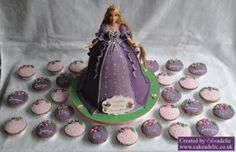 Tangled Barbie Cake and Matching Cupcakes